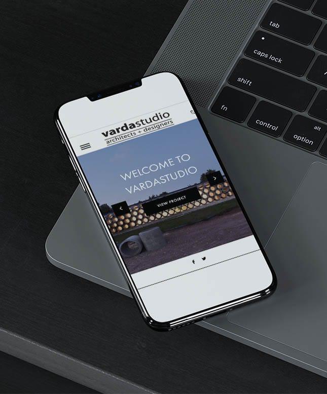 varda studio website on mobile