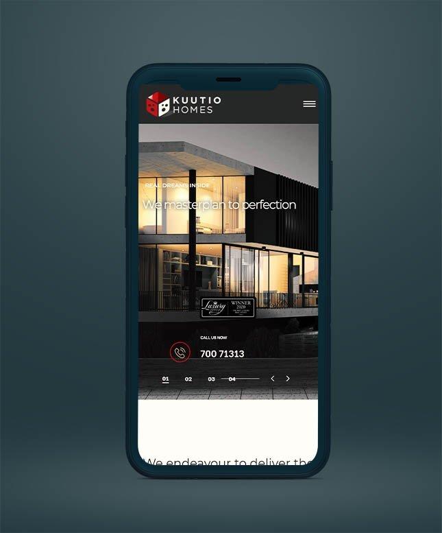 Kuutio homes webdesign project